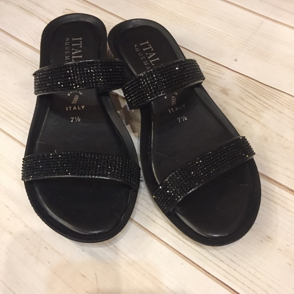 Italian Shoemakers Black Sequin Flat